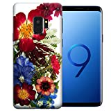 MUNDAZE for Samsung Galaxy S9 UV Printed Design Case - Pressed Blossom Flowers Design TPU Gel Phone Cover