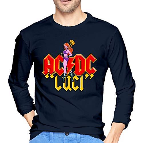 ACDC Heren T-shirt met lange mouwen ComfortSoft Shirts Perfect voor binnen of buiten
