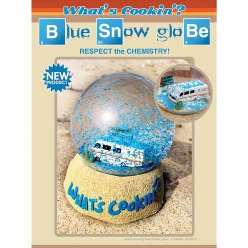 Breaking Bad What's Cooking - Respect the Chemistry Blue Snow Globe