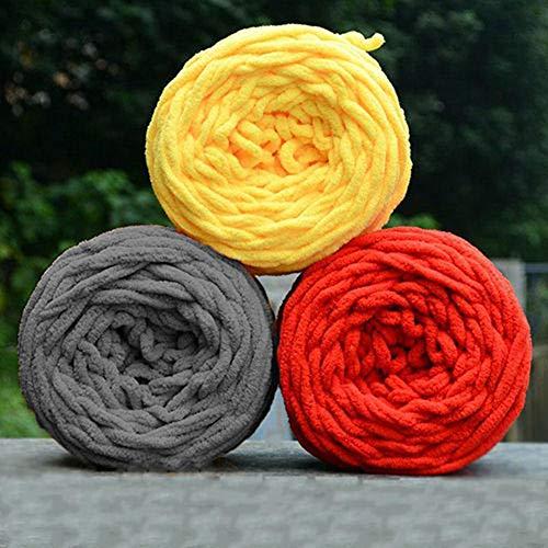 quanju cheer DIY Bufanda Suave Suéter Toalla Bola De Hilo Grueso Mano Tejer Crochet Artesanía Regalo para Tejer Bufandas Guantes Y Suministros para Bebés Vino Rojo