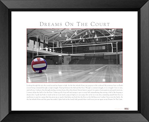 """Old School Athletics - Volleyball Dreams On The Court 22""""x28"""" Inspirational Loose Print"""