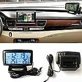 Tookie Kit 2 en 1 pour voiture - Horloge électronique - Thermomètre à LED - Affichage numérique - Double outil de mesure de la température intérieure et extérieure - Avec fonction de rétroéclairage.