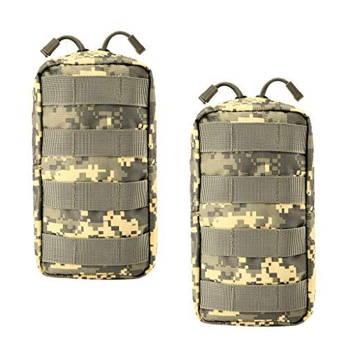 Bonarty Paquete de 2 Bolsas Molle - Bolsa Compacta Resistente Al Agua para Herramientas Gears, Riñonera Pequeña Multiusos