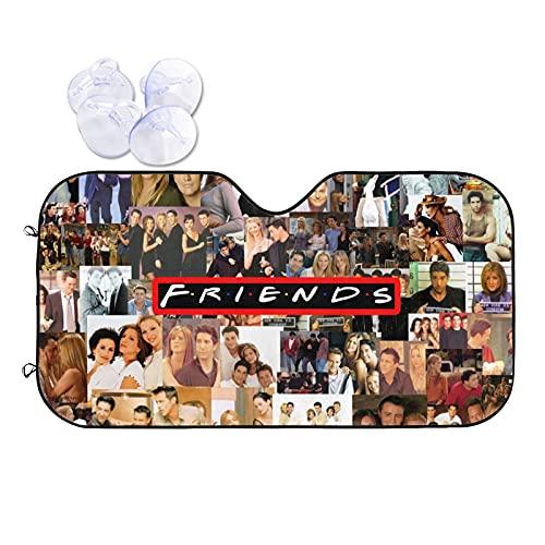 Parasol para Parabrisas Friends TV Parasol Auto Plegable de Visera para automóvil, camión, SUV, Mantenga su vehículo Fresco