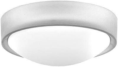 Brilliant G94224/70 Applique/plafonnier LED TONIA, 10W, metal/plastique, coloris transparent/blanc, 10 W