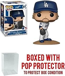 Funko POP! Sports MLB LA Dodgers Clayton Kershaw Action Figure (Bundled with Pop Box Protector to Protect Display Box)