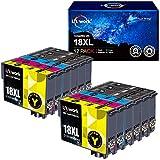 Uniwork 18XL Cartucce d'inchiostro Sostituzione per Epson 18 18 XL Compatibile con Epson Expression Home XP-322 XP-215 XP-205 XP-225 XP-305 XP-325 XP-422 XP-405 XP-415 XP-425 XP-315 XP-312 XP-425