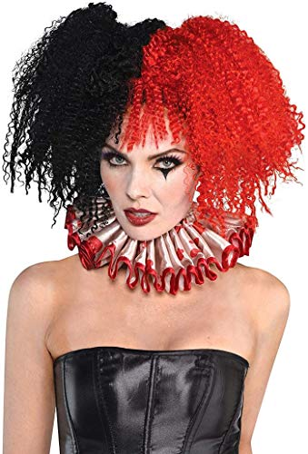 Suit Yourself Jesterina Red & Black Wig for Women, Halloween Costume Accessories, One Size