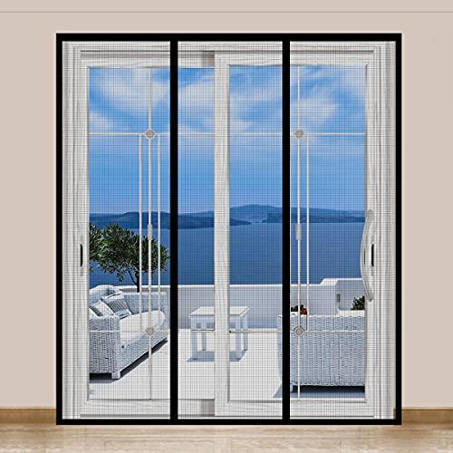 Magnetic DoorScreen, SANJIANKER Durable Fiberglass Mesh CurtainHeavy DutyScreen Door for Sliding Doors, Patio, Pet and Kid Friendly, Fits Doors up to 72' x 80'