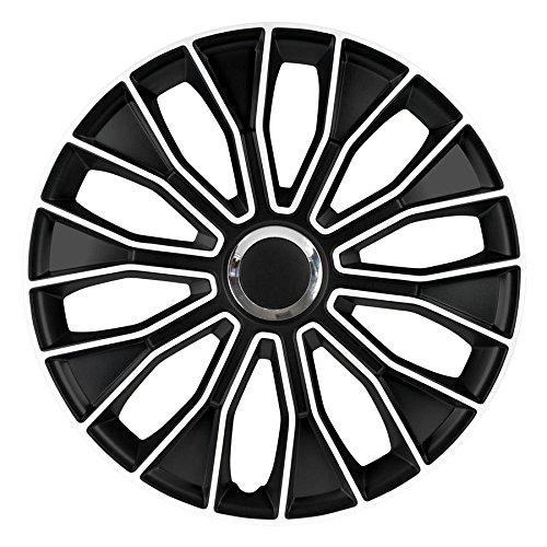 14 Zoll Radzierblenden / Radkappen Voltec pro Black white 14
