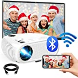 WiFi Mini Projector, 2020 Upgraded 4500 Lux Portable Bluetooth Video Projector, Support 1080P HD 200' Screen for Home & Outdoor Movie Theater, for iOS Android Phone,TV Stick,HDMI,USB,TF,VGA