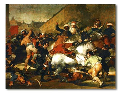 Cuadro Decoratt: El 2 de mayo de 1808 en Madrid (La carga de los mamelucos) - Francisco de Goya 33x25cm. Cuadro de impresión directa.