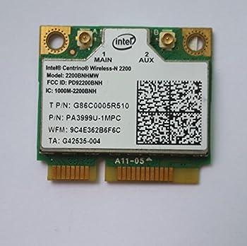 Intel Centrino Wireless-N 2230 WLAN WiFi 2230BNHMW 802.11 b/g/n + Bluetooth Half-Height Mini-PCI Express Card - 5DVH7