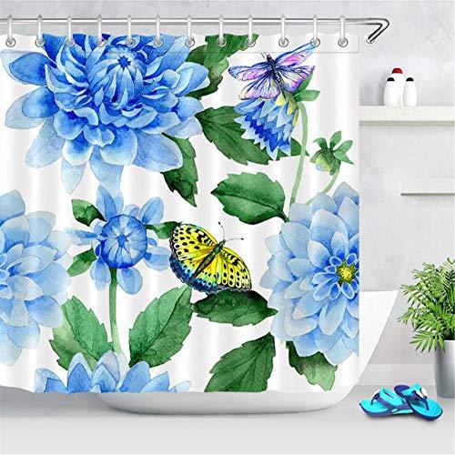 cortinas de baño con mariposas