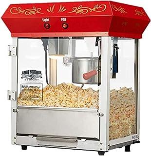 Machine à pop-corn en acier inoxydable commercial, fabricant pop-corn 680W verre trempé et intégré dans le revêtement ant...