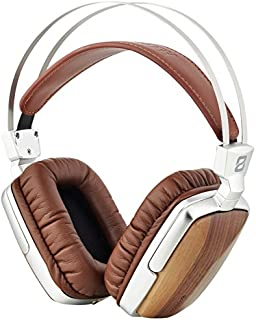 Wooden Headphone Over Ear,HD Stereo Headset,Noise Cancelling Earphones for PC/Cell Phones/TV,Wired Comes with Mic & No Mic Walnut
