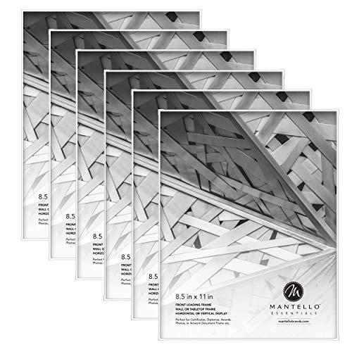 Mantello - Marco de fotos con carga frontal, paquete de 6