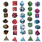 SimpleLife Set di Dadi poliedrici, Serie 5 x 7-Die Due Colori Dungeons And Dragons Giochi ...