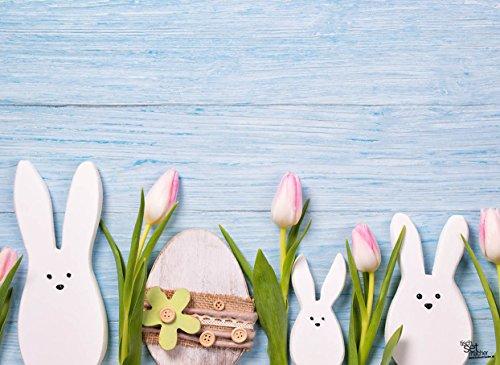 Tischsets I Platzsets - Ostern - Kleine Häschen - 12 Stück in hochwertiger Aufbewahrungsmappe - die besondere Tischdekoration für das Osterfest