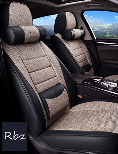 Universele stoelhoezen voor auto's, 5-zits, voor alle voertuigen, van zijde van ijs, verlichting van pijn aan de vita, voorkomt graffi van huisdieren.