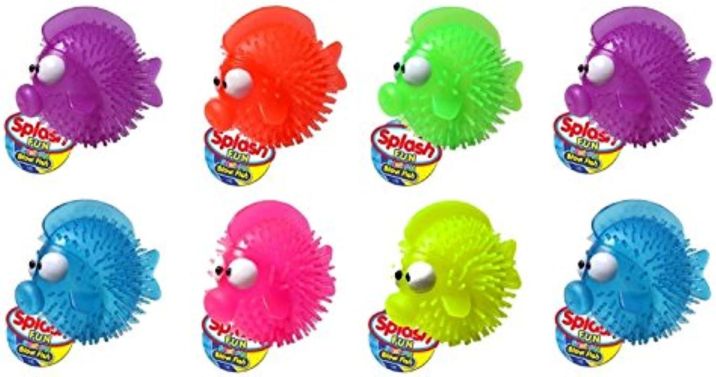 Ja-Ru Splash Fun Squirting Blow Fish Party Favor Bundle Pack