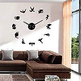N / A DIY Reloj Pared Flying Dinosaur Dragon Wall Art DIY Reloj de Pared Dragon Reloj de Pared silencioso Moderno Ficción Fantasía Decoración de Pared