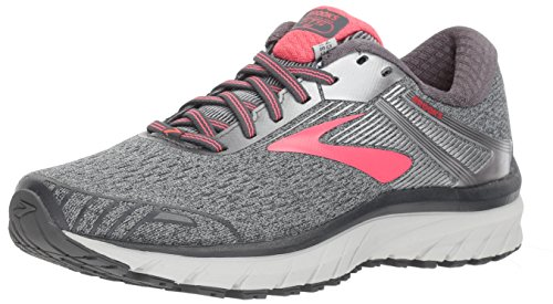 Brooks Women's Adrenaline GTS 18 (9.5 D US, Ebony/Silver/Pink)