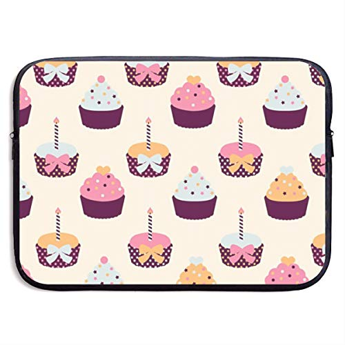 Gao808yuniqi Cupcake Laptop Sleeve Shoulder Bag for Women, Protective Carrying Case Compatible with 13-15 Inch MacBook Pro, Air, Notebook,Slim Sleeve
