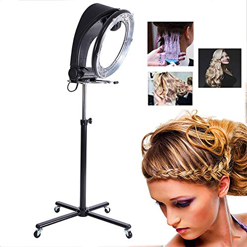 YWJH Trockenhaube Professionel Haar Farbe Prozessor Beschleuniger Rollen Base Teller Friseur Ausrüstung zum Barbier Salon Schönheit