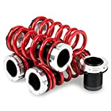Replacement for Mazda Miata MX-5 Aluminum Scaled Coilover Kit Set (Red Spring) - NA