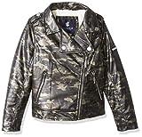 Rocawear Girls' Big Faux Leather Fashion Jacket, camo, 14/16
