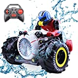 FLYZOE RC Car 2.4Ghz Racing Car Amphibious Stunt Car Radio Control Motorcycle High Speed Spinning Remote Control Cars