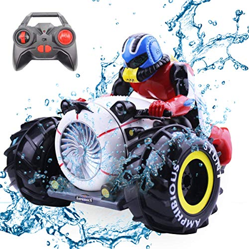 IFLYING Ferngesteuertes Auto 2.4G Amphibious RC Stunt Auto Radio Control Motorrad Auto Spielzeug