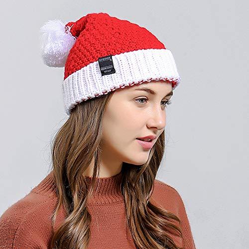 PYapron Gebreide Hoed Kerstmis Warm Cap Gehaakte Beanie Hoed, Rood Wit Gebreide Kerstmuts, Kerst Gebreide Hoed voor Winter, 25x32cm, 2 Stks