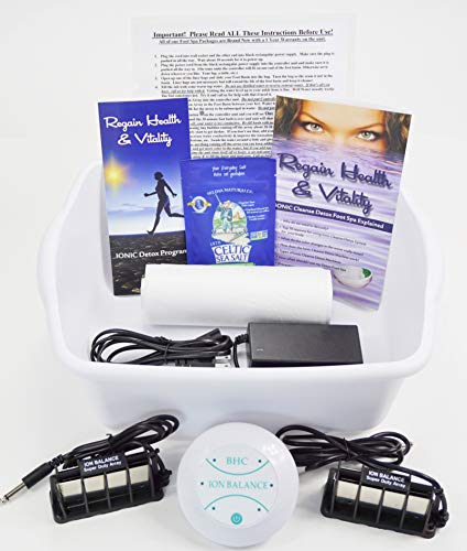 Detox Foot Spa Machine with Super Duty Ion Arrays That are 10X Stronger & Longer Lasting
