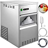 VBENLEM 110V Commercial Ice Maker,88LBS/24H Stainless Steel Snowflake Ice Machine,Countertop Automatic Operation Freestand Ice Crusher,Trash Ice for Seafood Restaurant Coffee Shop Home Bar