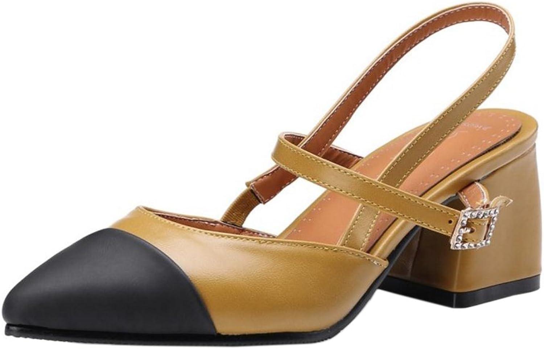 TAOFFEN Women Fashion Slingback Heels Sandals
