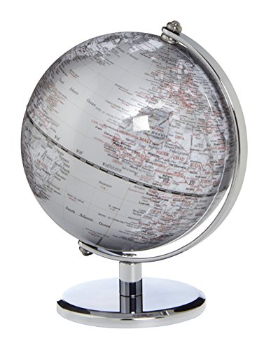emform Mini-Globus Gagarin Silver, Metall & Kunststoff, 130 x 170 mm