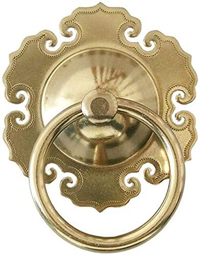JJDSN Manija de Puerta, manija de Puerta Duradera del Anillo del tirón de la Puerta, golpeador de Puerta de latón para el hogar del jardín