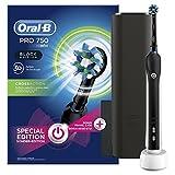 Oral-B PRO 750 Black Edition Elektrische Zahnbürste, mit Gratis Reise-Etui, schwarz