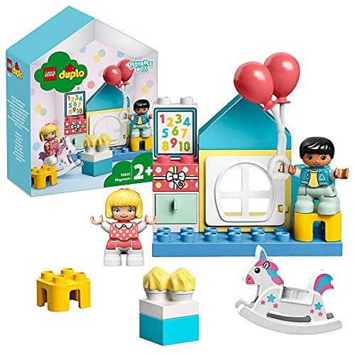 LEGO10925DuploCuartodeJuegos,JuguetedeconstrucciónparaNiñosde+2añoscon2FiguritasyCajaenFormadeCasa