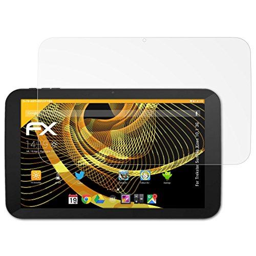 atFolix Panzerfolie kompatibel mit Trekstor SurfTab Xiron 10.1 3G Schutzfolie, entspiegelnde & stoßdämpfende FX Folie (2X)