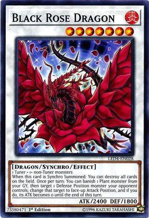 Yu-Gi-Oh! - Black Rose Dragon - LED4-EN028 - Legendary Duelists: Sisters of the Rose - 1st Edition - Common