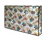 Orange Floral LED TV Cover for 39'' Inch Dustproof Television Cover Protector for 39 Inch LCD & LED