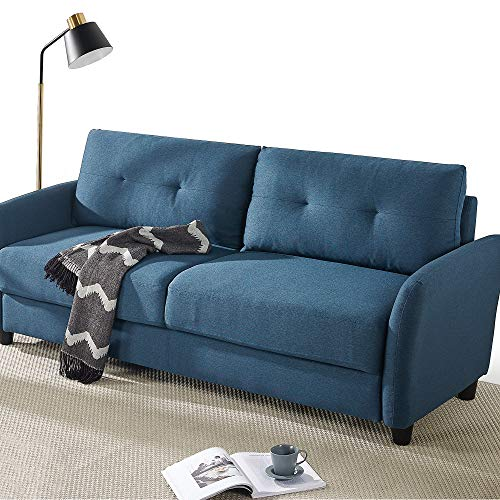 ZINUS Ricardo Sofa Couch / Tufted Cushions / Easy, Tool-Free Assembly, Lyon Blue