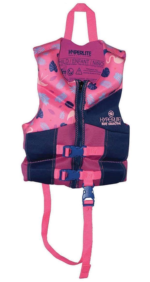 Hyperlite Child Life Vest, Pink/Blue/Purple, USCG Approved Level 70 Buoyancy Device 33-55 lbs