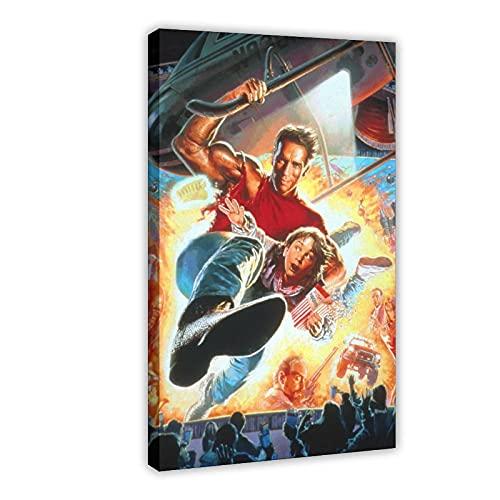 Poster sur toile « Last Action Hero 1 » - Décoration murale pour salon, chambre à coucher - Cadre : 50 x 75 cm