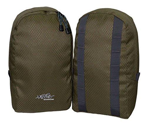 Tashev universelle Rucksack Grün Seitentaschen Extrataschen Zusatztaschen (Grün)
