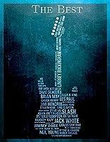 最高のギタリストティンサイン壁鉄の絵レトロプラークヴィンテージ金属板装飾ポスターおかしいポスター吊り工芸品バーガレージカフェホーム