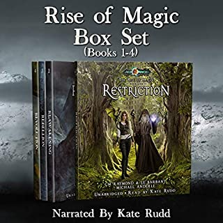 Rise of Magic Boxed Set One     A Kurtherian Gambit Series (The Rise of Magic Boxed Sets, Book 1)              By:                                                                                                                                 CM Raymond,                                                                                        LE Barbant,                                                                                        Michael Anderle                               Narrated by:                                                                                                                                 Kate Rudd                      Length: 34 hrs and 2 mins     1 rating     Overall 5.0